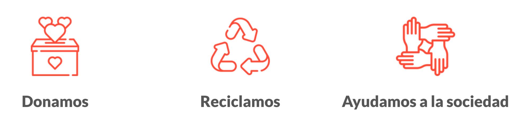 donamos, reciclamos, ayudamos a la sociedad